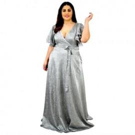 Vestido de Noche V-AU- 9228 -P-BoutiqueCurvi-COLECCIÓN DE LUJO
