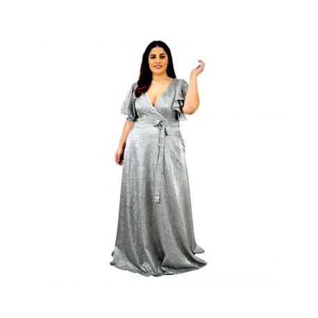 Vestido de Noche V-AU- 9228 -P-BoutiqueCurvi-VESTIDOS DE NOCHE