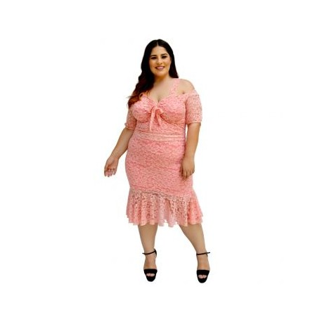2 en 1. Vestido/ Conjunto de encaje V 4197-BoutiqueCurvi-VESTIDOS Y FALDAS
