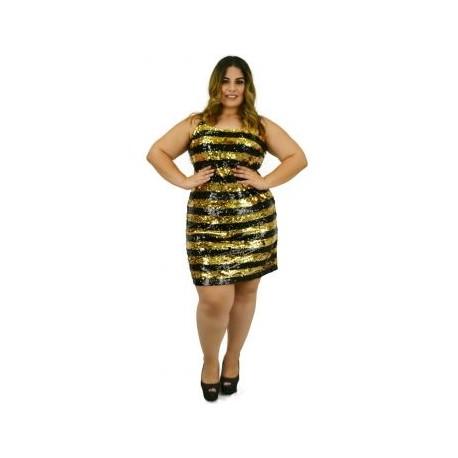 Vestido de lentejuela modelo V20302-BoutiqueCurvi-VESTIDOS