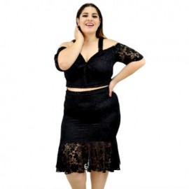 2 en 1. Vestido/ Conjunto de encaje V 4197-BoutiqueCurvi-VESTIDOS