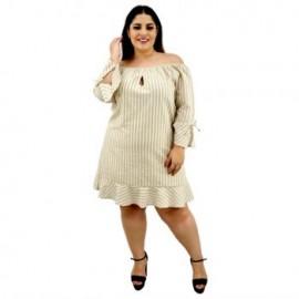 Vestido de lino modelo V-ST- 5094-BoutiqueCurvi-VESTIDOS
