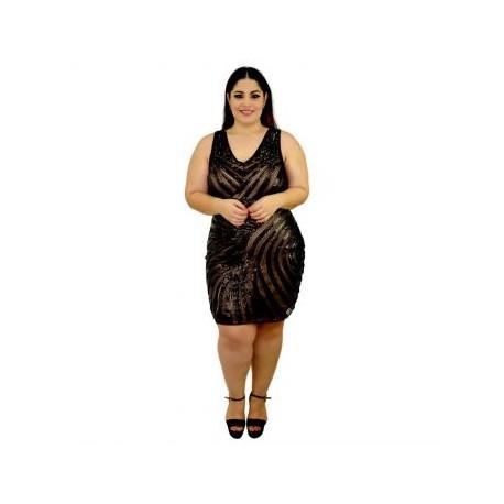 Vestido formal de lentejuelas, modelo -YIM- 8812-BoutiqueCurvi-VESTIDOS