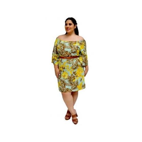 Vestido de Lino V 3235-BoutiqueCurvi-VESTIDOS Y FALDAS