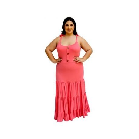 Vestido Largo Strech V 4213-BoutiqueCurvi-VESTIDOS Y FALDAS