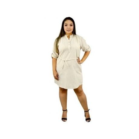 Vestido de lino V5096-BoutiqueCurvi-VESTIDOS Y FALDAS