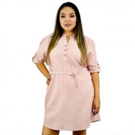 Vestido de lino V5096-BoutiqueCurvi-VESTIDOS
