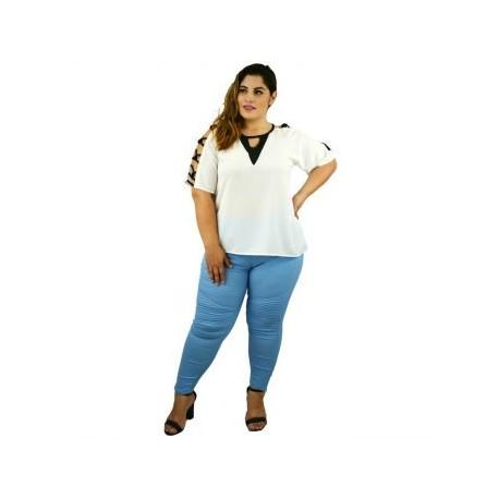 Blusa elegante modelo BL1646-L-BoutiqueCurvi-BLUSAS