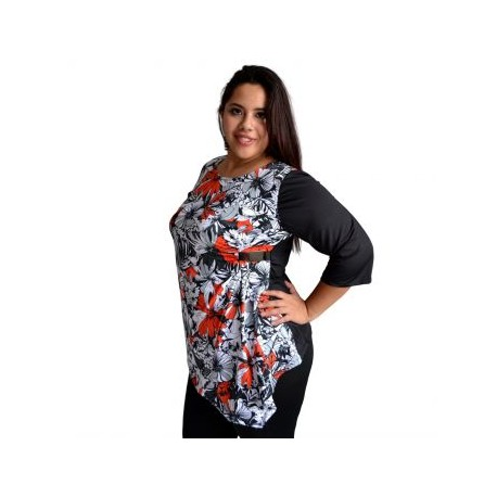 Blusa estampada modelo 103-BoutiqueCurvi-BLUSAS Y MÁS