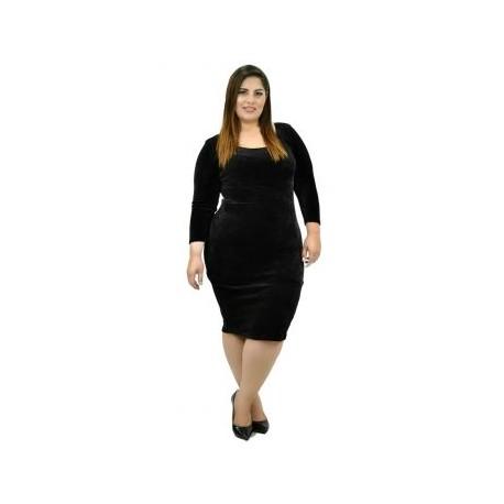 Vestido terciopelo V11138-BoutiqueCurvi-VESTIDOS Y FALDAS