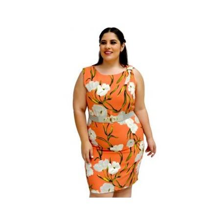 Vestido Tulipanes V 3266-BoutiqueCurvi-VESTIDOS Y FALDAS