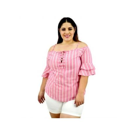 Blusa juvenil de lino modelo BL-ST- 5085-BoutiqueCurvi-BLUSAS Y MÁS