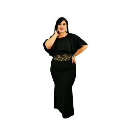 Vestido de Noche Modelo V4151-BoutiqueCurvi-VESTIDOS