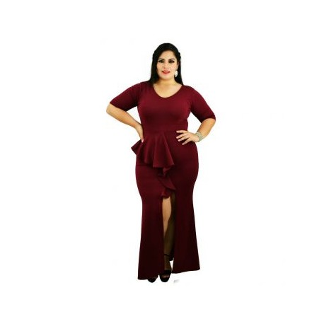 Vestido de Noche Modelo V4162-BoutiqueCurvi-VESTIDOS
